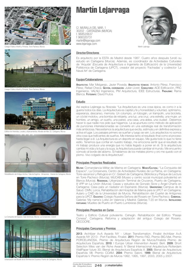 GUIA DE ESTUDIOS DE ARQUITECTURA 2013-2014 - Preview 51