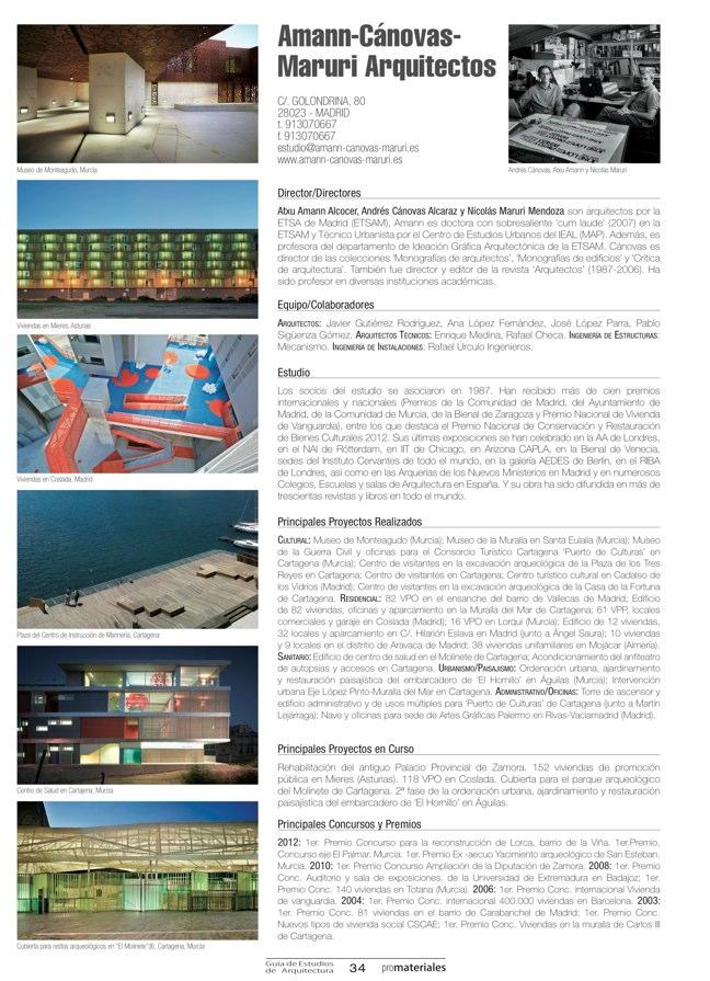 GUIA DE ESTUDIOS DE ARQUITECTURA 2013-2014 - Preview 7