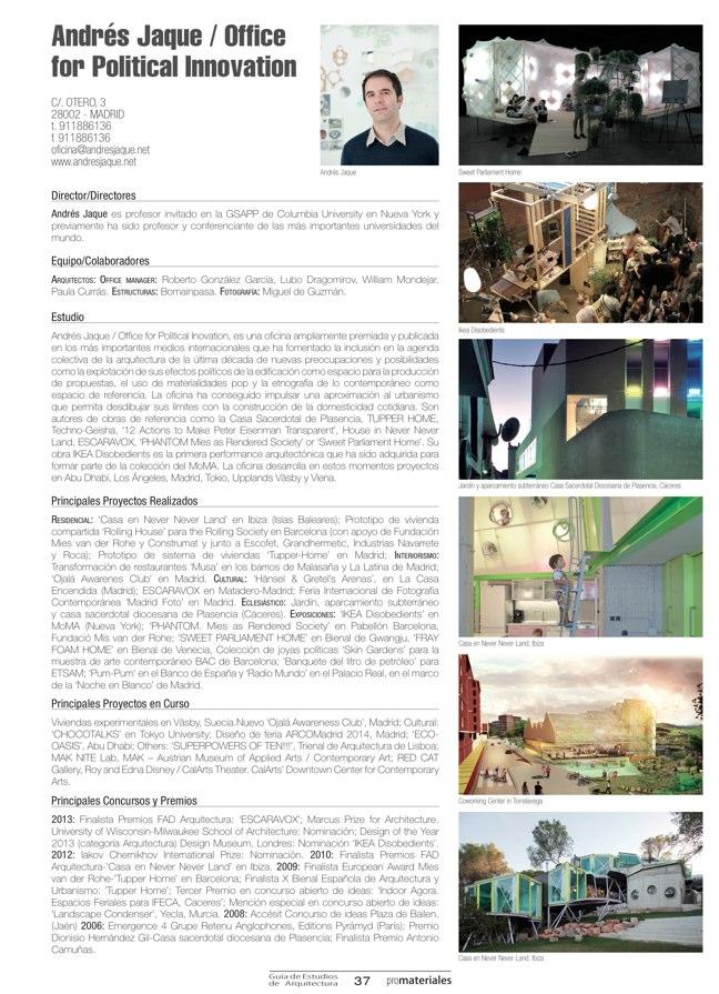 GUIA DE ESTUDIOS DE ARQUITECTURA 2013-2014 - Preview 8