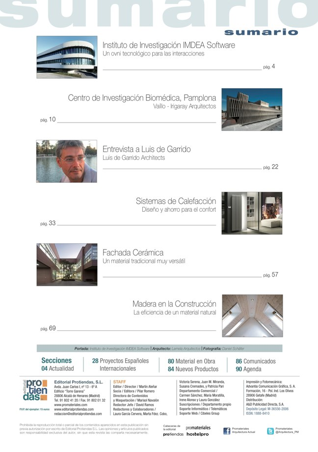 promateriales 69 I Revista de construcción y arquitectura actual - Preview 1