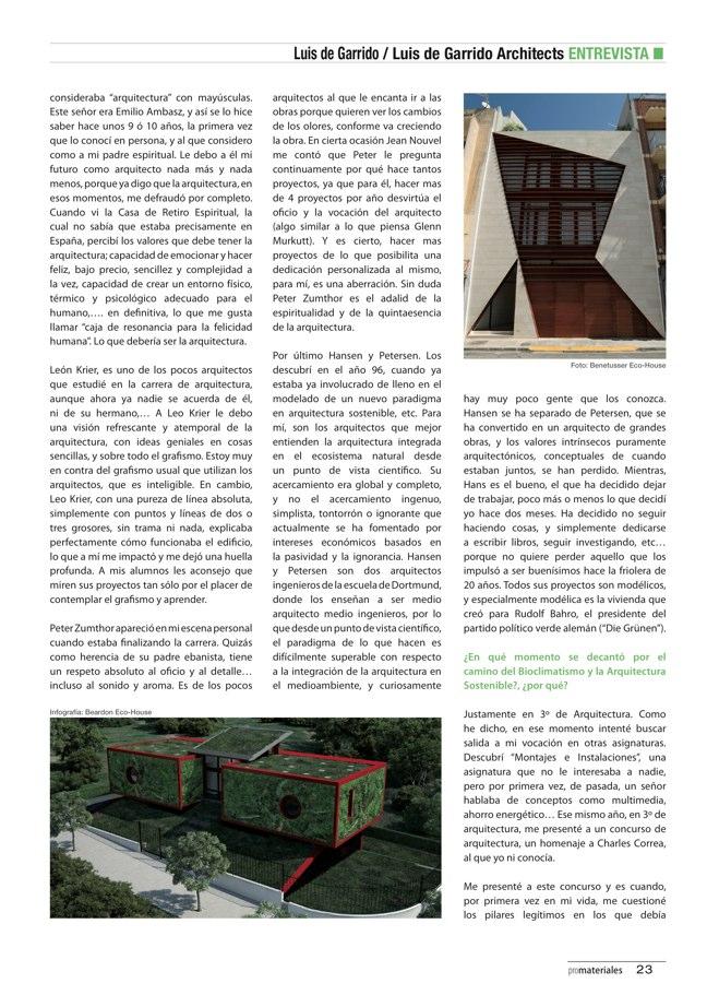 promateriales 69 I Revista de construcción y arquitectura actual - Preview 7