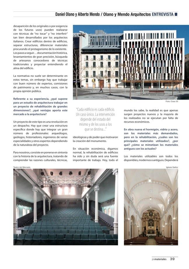 promateriales 70 I Revista de construcción y arquitectura actual - Preview 14