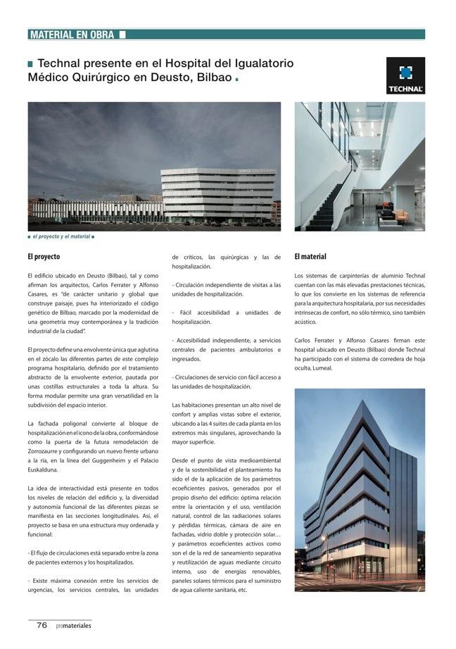 promateriales 70 I Revista de construcción y arquitectura actual - Preview 21