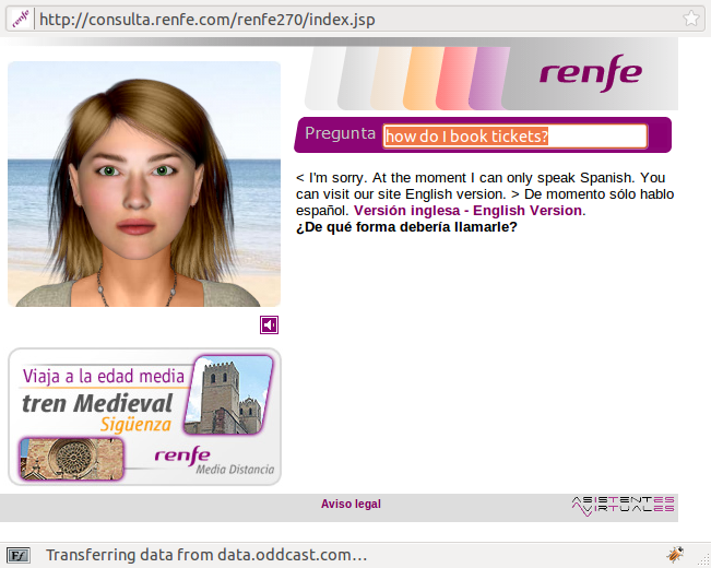 Renfe virtual assistant
