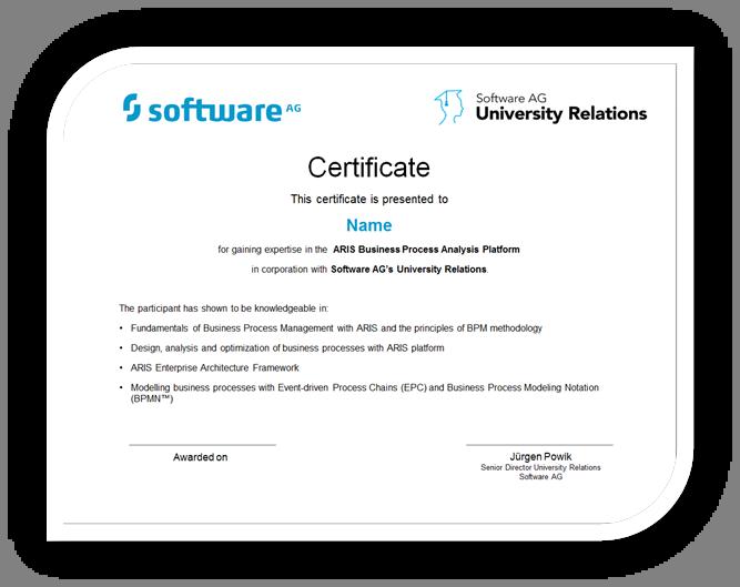 Certification | ARIS BPM Community