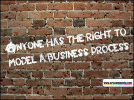 Anyone has the right to model a business process ecard