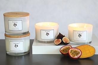 Woodbridge Simplistic White Large Soy Candles
