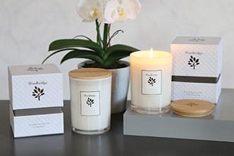 Woodbridge Simplistic White Medium Soy Candles