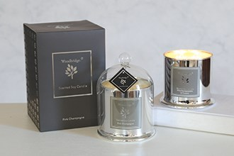 Woodbridge Sleek Silver Large Bell Candle Jars