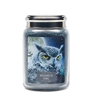 Wizards Owl Village Candle 26oz Scented Candle Jar - Metal Lid