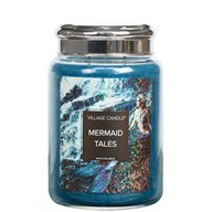 Mermaid Tales Village Candle 26oz Scented Candle Jar -  - Metal Lid
