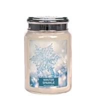 Winter Sparkle Village Candle 26oz Scented Candle Jar