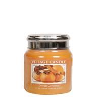 Orange Cinnamon Village Candle 16oz Scented Candle Jar  - Metal Lid