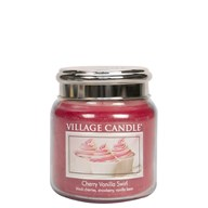 Cherry Vanilla Swirl Village Candle 16oz Scented Candle Jar