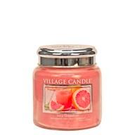 Juicy Grapefruit Village Candle 16oz Scented Candle Jar  - Metal Lid