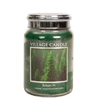 Balsam Fir Village Candle 26oz Scented Candle Jar - Metal Lid