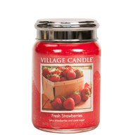Fresh Strawberries Village Candle 26oz Scented Candle Jar