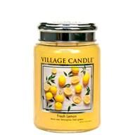 Fresh Lemon Village Candle 26oz Scented Candle Jar - Metal Lid