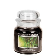 Black Bamboo Village Candle 16oz Scented Candle Jar - Glass Dome Lid
