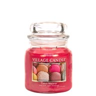 French Macaron Village Candle 16oz Scented Candle Jar - Glass Dome Lid