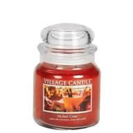 Mulled Cider Village Candle 16oz Scented Candle Jar - Glass Dome Lid