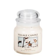 Pure Linen Village Candle 16oz Scented Candle Jar - Glass Dome Lid