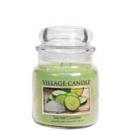 Sea Salt Cucumber Village Candle 16oz Scented Candle Jar - Glass Dome Lid