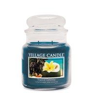 Tropical Getaway Village Candle 16oz Scented Candle Jar - Glass Dome Lid