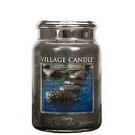 Clarity Village Candle 26oz Scented Candle Jar - Metal Lid