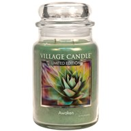 Awaken Village Candle 26oz Scented Candle Jar - Glass Dome Lid