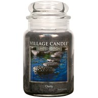 Clarity Village Candle 26oz Scented Candle Jar - Glass Dome Lid