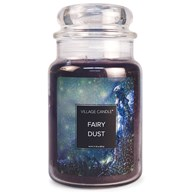 Fairy Dust Village Candle 26oz Scented Candle Jar - Glass Dome Lid