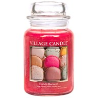 French Macaron Village Candle 26oz Scented Candle Jar - Glass Dome Lid