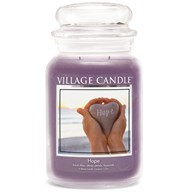 Hope Village Candle 26oz Scented Candle Jar - Glass Dome Lid