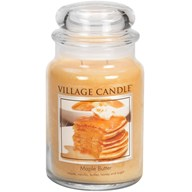 Maple Butter Village Candle 26oz Scented Candle Jar - Glass Dome Lid