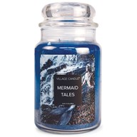 Mermaid Tales Village Candle 26oz Scented Candle Jar - Glass Dome Lid