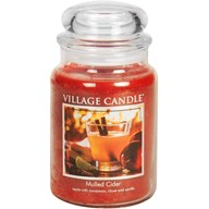 Mulled Cider Village Candle 26oz Scented Candle Jar - Glass Dome Lid