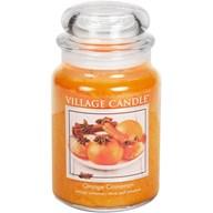 Orange Cinnamon Village Candle 26oz Scented Candle Jar - Glass Dome Lid