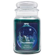 Peace on Earth Village Candle 26oz Scented Candle Jar - Glass Dome Lid