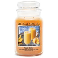 Peach Bellini Village Candle 26oz Scented Candle Jar - Glass Dome Lid