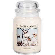 Pure Linen Village Candle 26oz Scented Candle Jar - Glass Dome Lid