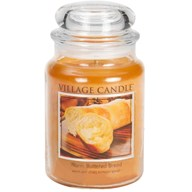 Warm Buttered Bread Village Candle 26oz Scented Candle Jar - Glass Dome Lid