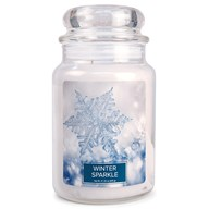 Winter Sparkle Village Candle 26oz Scented Candle Jar - Glass Dome Lid