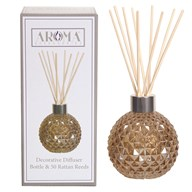 Amber Lustre Glass Reed Diffuser & 50 Rattan Reeds