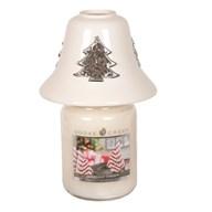 White Ceramic Christmas Tree Jar Shade 11.5cm
