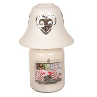 White Ceramic Reindeer Jar Shade 11.5cm