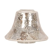 Candle Jar Lamp Shade - Gold & Silver Crackle