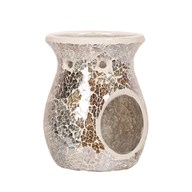 Wax Melt Burner - Gold & Silver Crackle