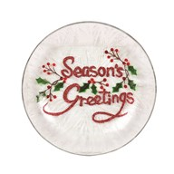 Season's Greetings Candleplate 16cm