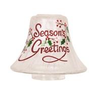 Season's Greetings Candle Jar Lamp Shade 16cm